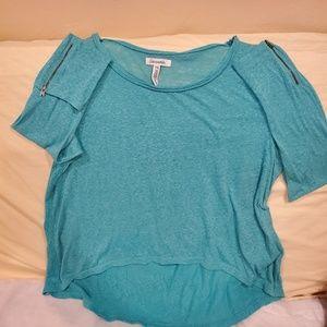Aeropostale Turquoise Burnout long sleeve Top